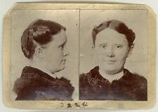 Photo Bertillon identification Policière Police Chicago 1898