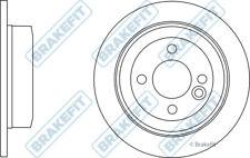 2x Brake Discs (Pair) Solid fits MINI COOPER R56 Rear 1.6 1.6D 06 to 13 259mm