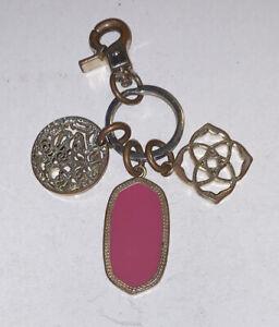Kendra Scott Keychain Key Ring FOB Vintage Costume Jewelry Logo Metal RARE!!
