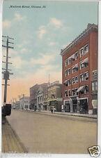Lithograph - Ottawa, IL - Street Scene - early 1900s