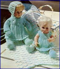 Vintage Baby Dolls Knitting Pattern 4 ply for 41 cms dolls