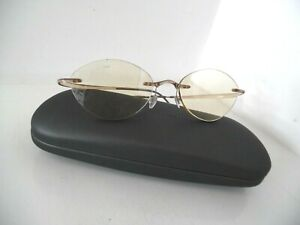 Silhouette Brown/Clear & Grey Bendy Rimless Eye Glasses & Case SPX M 1960 45 145