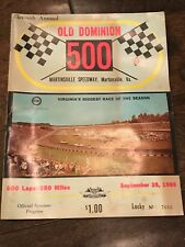 11th Annual Old Dominion 500 Program Martinsville Speedway Sept 25 1966 SIGNED
