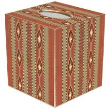 Tissue Box Cover Square Bathroom Accessories Dispenser Holder Rustic Stripe