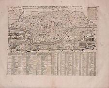 Antique map, Nouveau plan de ville de Rome