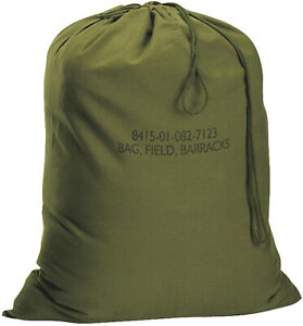 Cotton Canvas Laundry Bag Field Barracks Military Army Tactical Gym Camping