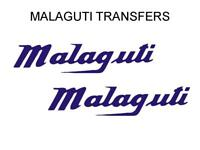 Malaguti Tank Transfers Decals Stickers Sold as a Pair Blue