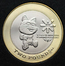 IOM ISLE OF MAN 2 POUNDS KM 1476 TOSHA CAT COMMONWEALTH YOUTH GAMES 2011 UNC