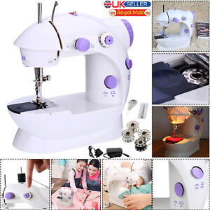 Electric Portable Mini Sewing Stitch Machine 2 Speed Foot Pedal LED Home DIY UK