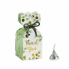 Eucalyptus Print Vertical Square Hourglass Favor Boxes
