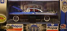 M2MACHINES 1:64 SCALE DIECAST METAL BLACK & BLUE 1957 DODGE ROYAL LANCER D500