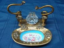 Antique Sevres Porcelain & Bronze Ormolu Mounted Inkwell