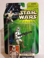 CLONE TROOPER SNEAK PREVIEW STAR WARS ATTACK OF THE CLONE WARS RARE HTF