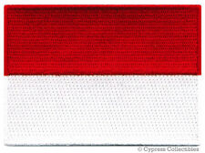 INDONESIA FLAG embroidered iron-on PATCH INDONESIAN EMBLEM applique