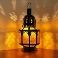 Lanterne Orientale Maroc Lampe Suspendue Orient Lanternes en Verre Ambergelb