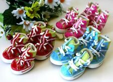 USA SELLER Dog Puppy SET of 4 Shoes Boots Sneakers  Pink Blue Red sz #1 - #5
