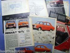QUATTROR970-PROVA SU STRADA/ROAD TEST-1970- RENAULT 12 TL - 10 fogli