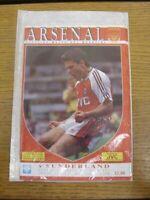 27/10/1990 Arsenal v Sunderland [Arsenal Championship Season] (In very good/mint