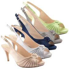 Unbranded Satin Slingbacks Heels for Women