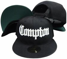 Compton Old English Black Adjustable Flatbill Snapback Hat w sunglass