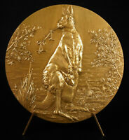 Medaille Känguru Australien und Sound Klein Tier 72mm