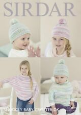 Sirdar Baby & Child Poncho & Hat Knitting Pattern - 4674 - DK Double Knit
