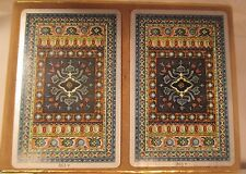 """VINTAGE """"TAPESTRY"""" DOUBLE DECK PLAYING CARDS ORIGINAL BOX CONGRESS CANASTA"""