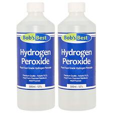 Food Grade Hydrogen Peroxide 12% Solution - 1000ml -Anti-Bacterial Oxygen Source