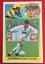LUIS ENRIQUE REAL MADRID ESTE 93-94, 1993-94, SIN PEGAR, CARTÓN, LEER!!