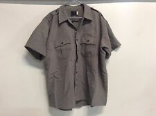 CLIFTON SUPER SHIRT LEO POLICE CORRECTION SECURITY OFFICER ZIP SS SHIRT SZ 19.5