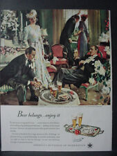 1947 US Beer Brewers 5th in Series 'After the Wedding' Vintage Print Ad 12655