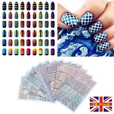 Guide Hollow Manicure 3d Nail Art Sticker Colorful Tip Vinyl Decal Pack of 24