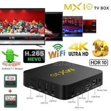 MX10 4GB+32GB Smart Android 7.1.2 TV BOX RK3328 Quad Core 4K WiFi UHD 3D Media
