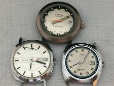 SLAVA, ROTARY ,TIMEX Set of 3 Vintage Mechanical  Watches  Parts / Repair