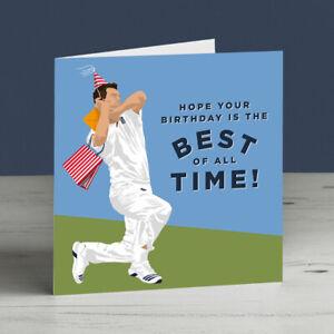 James Anderson England Cricket Birthday Card