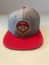 Super Mario Ball Cap Gray & Red Nintendo Hat 2016