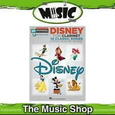 New Hal Leonard Easy Instrumental Play Along: Disney for Clarinet Music Book