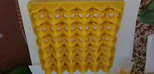 10 Sup, Heavy Plastic Egg Tray, 30-Eggs lightly used,  yellow 10 X package $ 35.