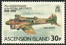 AVRO ANSON / RAF 75th Anniversary Aircraft Stamp (1993 Ascension Island)