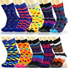 6 12 Pairs Mens Colorful Funky Casual Dress Novelty Wedding Cotton Socks Argyle
