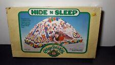 Vintage Hide And Sleep Cabbage Patch Kids Twin Bed - Camp Tent 1985 Hide N Sleep