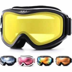 Winter Goggles Ski Glasses Snow Sports With Double Lens Anti-Fog Protection