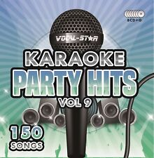 VOCAL-STAR PARTY HITS 9 KARAOKE CDG CD + G Disc Set 150 CANZONI