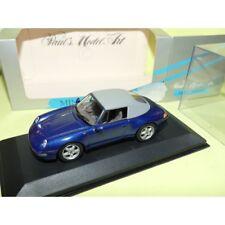 PORSCHE 911 CABRIOLET Capoté 993 1994 Bleu Blue MINICHAMPS 1:43
