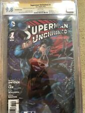 Superman Unchained #1 3D RRP Lenticular 9.8 Lee Sinclair Williams Nguyen Snyder