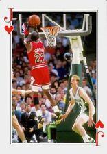 1990'S MICHAEL JORDAN BULLS JACK OF HEARTS MICHAEL HAVING A SHOT BASKETBALL CARD