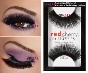 Lot 6 Pairs GENUINE RED CHERRY #199 Hazel Human Hair Lashes False Eyelashes Lash