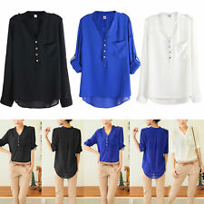 V Neck Casual Blouse Size Petite for Women