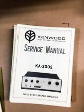 Kenwood KA-2002 Amplifier Service Manual *Original* #2