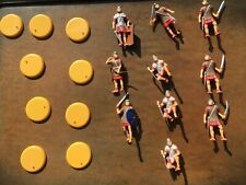 Painted Roman Toy soldiers with bases 10 figures